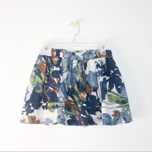 Abercrombie and Fitch Blue Floral Skirt